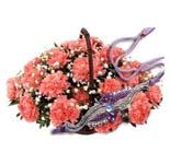 12 Carnations Roses & 1 Rakhi