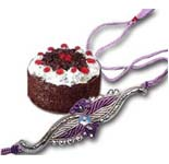 1 Kg. Black Forest Cake with 1 Rakhi