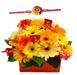 Flowers With Rakhi