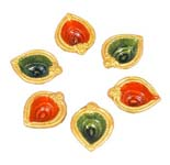 Twin Tone Diya Set-6 Pcs