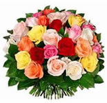 3 Dozen Mixed Colour Roses