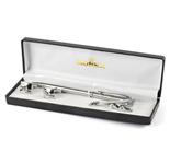Silvery Pen-Cufflink Set