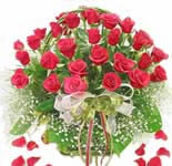 Pretty Red Rose basket