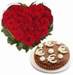 Rose Heart & Cake