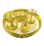 Golden Puja Thali Hamper
