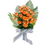 24 Orange Rose Bunch