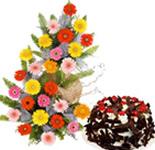 Gerberas N Cake